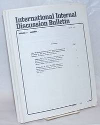 image of International internal discussion bulletin, vol. 15, no. 1, March, 1978 to no. 7, December, 1978