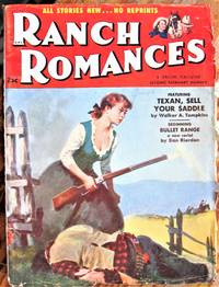 image of Bullet Range. Serial in Ranch Romances Volume 190 Number 1, February 11, 1955.