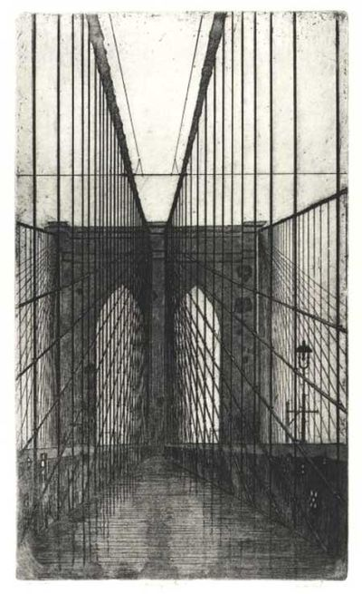 [New York: The Artist, 1982. Oblong folio. Portrait orientation. Original etching with aquatint (37 ...