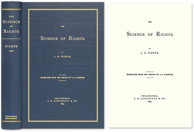 2008. ISBN-13: 9781584779339; ISBN-10: 1584779330. The Principal Legal Work of Johann Gottlieb Ficht...