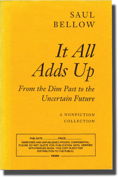 New York: Viking Press, 1994. First Edition. UNCORRECTED PROOF, preceding the First Edition. Include...