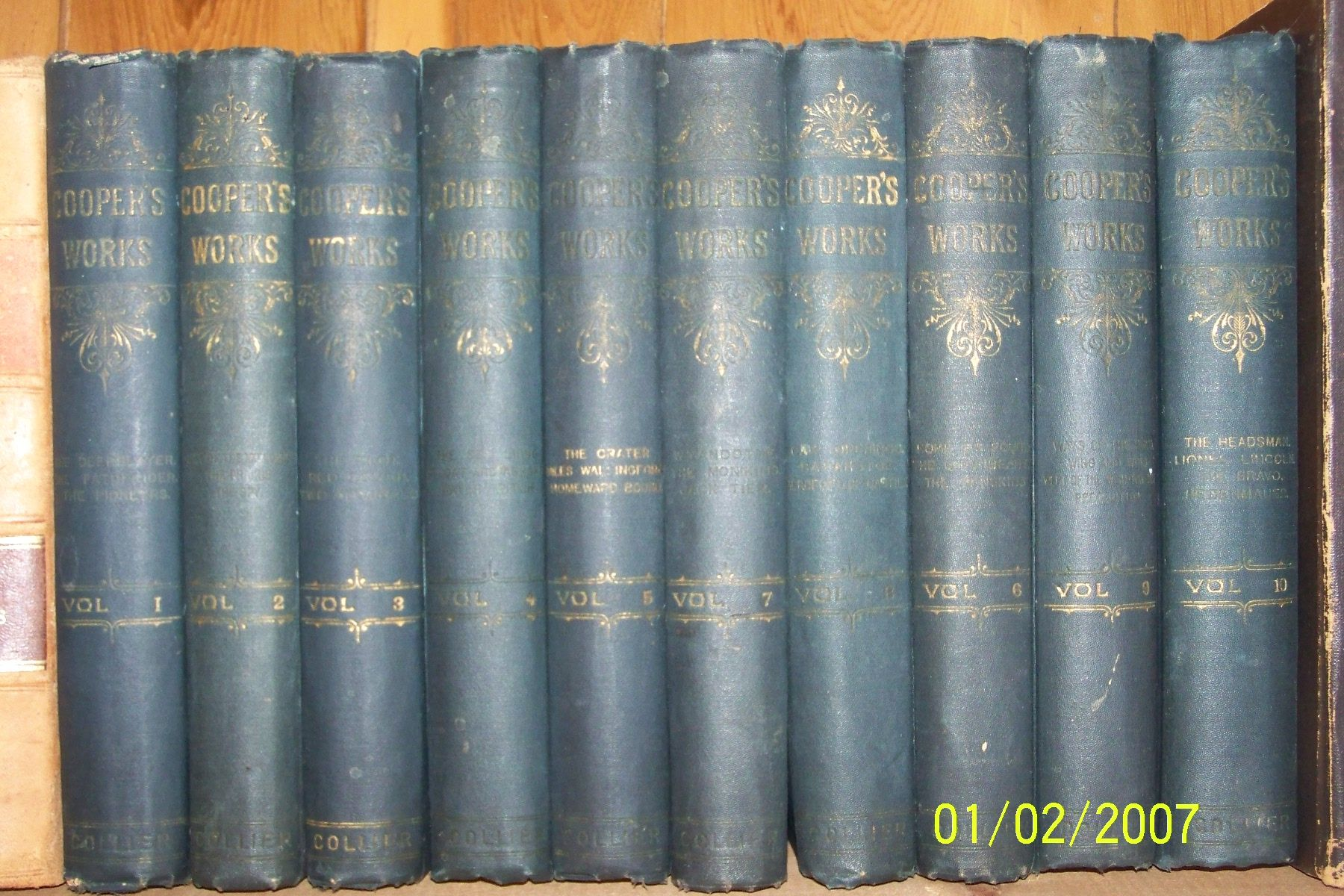 10 Volumes Cooper S Works By James Fenimore Cooper 1892