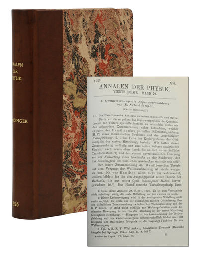 Leipzig: Verlag von Johann Ambrosius Barth, 1916. First Edition. Near Fine. First edition. All five ...