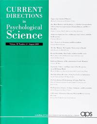 image of Current Directions In Psychological Science (Volume 18, Number 4, August 2009)