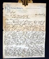 image of El Prodigio Mining Co., March 23, 1904 Autographed Document Signed with Carbon Copy [Spanish Translation]