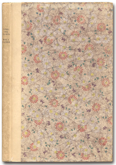 New York: Alfred A. Knopf, 1923. Hardcover. First edition thus, a re-issue of Cather's first book, w...
