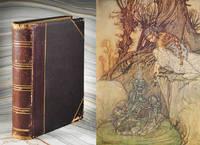 Handmade scrapbook of Arthur Rackham reproductions.