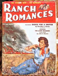 image of Badge for a Drifter. Short Story in Ranch Romances Volume 185 Number 3, June 4, 1954.