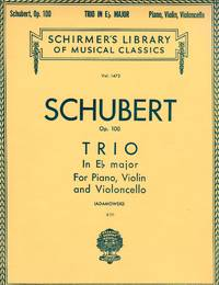 Piano Trio in E-flat major, Op.100 [PIANO FULL SCORE & STRING PARTS] by  Franz Schubert - Paperback - 1923 - from bookarrest and Biblio.co.uk