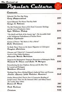 The Journal of Popular Culture: Volume 43, Number 2, April 2010