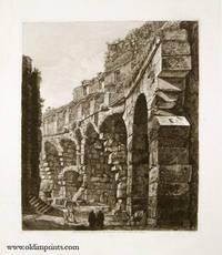 Veduta di porzione degli avanzi dell'Ambulacro del piano terra nel Colosseo