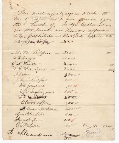 15 Abolitionist Congressmen Sign for...