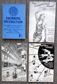 image of THE SWIMMING TIMES.  VOL. XVIII. NO. 1 MARCH 1940 + NO. 3. MAY 1940 + NO. 4, JUNE 1940.  WITH: SWIMMING INSTRUCTION: LAND DRILLS AND WATER PRACTICE.  4 SWIMMING-RELATED ITEMS.