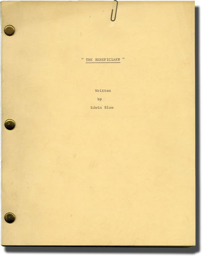 Beverly Hills, CA: N.p., 1970. Draft script for an unproduced film. Paper clipped to the front wrapp...