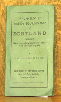 MACPHERSON'S NEW HANDY MAP OF SCOTLAND - FOR MOTORISTS, CYCLISTS AND TOURISTS. SCALE, 12 MILES TO ONE INCH. SHOWING MAIN, SECONDARY OND OTHER ROADS WITH MILEAGE FIGURES