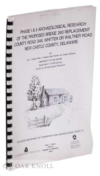 N.P.: Delaware Department of Transportation, 1985. stiff paper wrappers, plastic spiral binding. 4to...