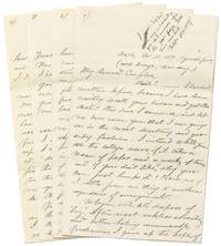 image of An 1869 Letter from a Tufts College Student featuring a Six Page detailed account of the College's Baseball Games