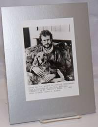 image of 5x7 b&w glossy author photo of Randy Shilts_his dog Dashiel