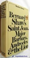 Bernard Shaw's Saint Joan, Major Barbara, Androcles and The Lion