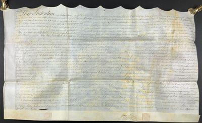 [Vellum Manuscript Document Signed]...