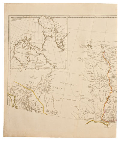 Paris, 1746. Copper engraved map, on four unjoined sheets, period hand-colouring in outline. One of ...