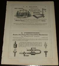 1853 Four 1/2 Page Ads for Scales Co. , Water Closet Maker, Millinery,  Perkins Institution