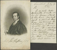 Autograph letter from Rev. Thomas Raffles to Mr. (William) Bullock, lending him a catalogue of his autograph collection
