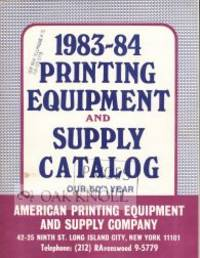 Long Island City, NY: APES, 1983. stiff paper wrappers. Printing Equipment. 4to. stiff paper wrapper...