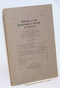 image of Bulletin of the Seismological Society of America, Vol. 5, No. 4, December 1915