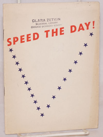 Washington: National Federation for Constitutional Liberties, 1942. Pamphlet. 15p., wraps, paper sli...