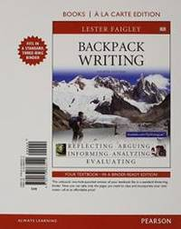 Backpack Writing  Books a la Carte Edition 4th Edition
