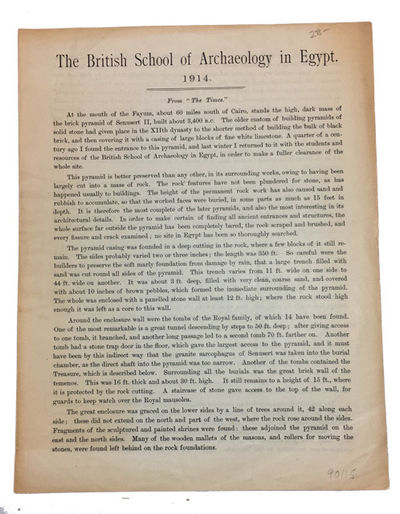 n.p.: n.p., 1914. Paperback. Very Good. unnumbered four-page leaflet. 24 cm. First page unevenly bro...