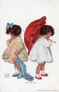 """image of Original 1911 Bessie Collins Pease Postcard """"The Falling Out"""""""