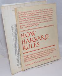 image of How Harvard rules,; being a total critique of Harvard University, including: new liberated documents; government research; the educational process exposed; strike posters;_a free power chart