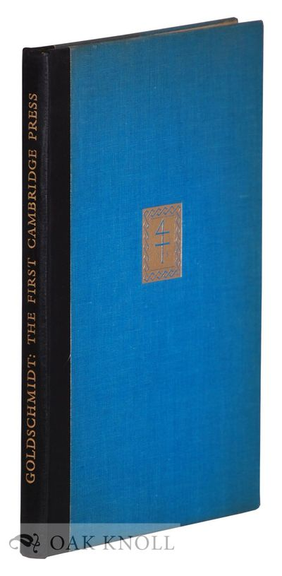 Cambridge: University Press, 1955. cloth. tall 8vo. cloth. x, 100 pages. First edition, the Sandars ...