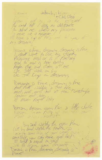 Handwritten Manuscript Lyrics of...