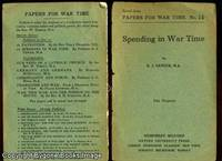 Papers for War Time No 14 SPENDING IN WAR TIME