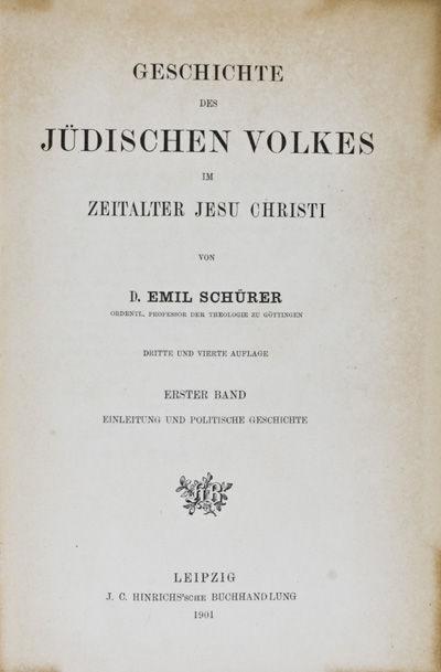 Leipzig: J. C. Hinrichs'sche Buchhandlung, 1901. Third edition (Dritte Auflage). Hardcover. g. 3 vol...