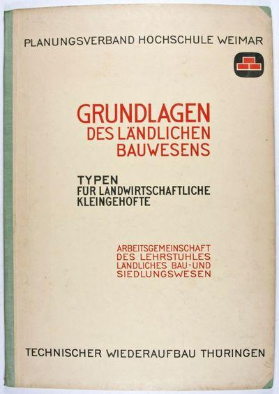 Thüringen: Technischer Wiederaufbau Thüringen, 1946. First edition. Hardcover. vg. Oblong double e...