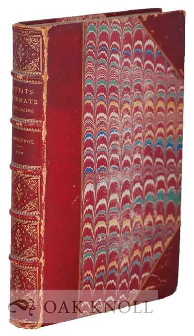 Paris, France: Edouard Rouveyre, 1880. half-calf, marbled paper covered boards, leather tips, five r...