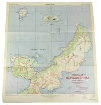 Okinawa Island Map Prepared between Dropping Atomic Bombs on Hiroshima and Nagasaki.