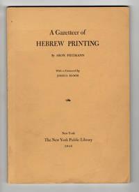 A Gazetteer of Hebrew printing