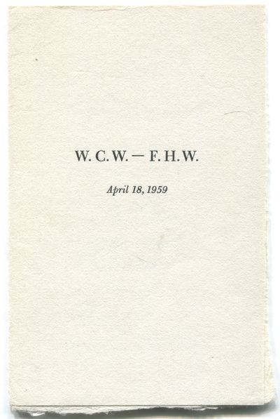 (New York: New Directions, 1959. Unbound. Fine. First edition. One leaf folded twice. Slightest soil...