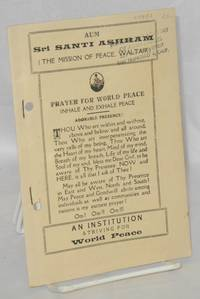 Sri Santi Ashram (The Mission of Peace, Waltair)