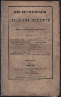 United States Literary Gazette. Vol. III, No. 7, including the Literary Advertiser, The.