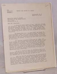 [Open letter to President Harry S. Truman]