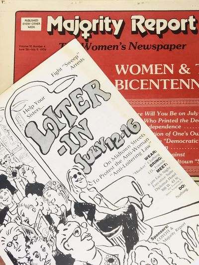 1976. Double-sided flyer requesting like minded ladies to