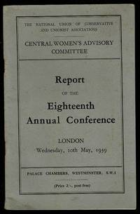 image of Central Women's Advisory Committee Report of the Eighteenth Annual Conference