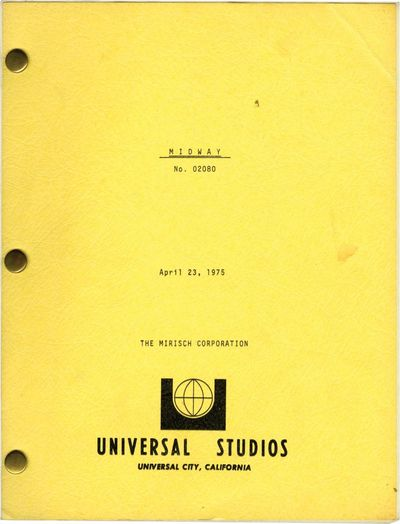 Universal City, CA: Universal Pictures, 1975. Draft script for the 1976 film. The summer of 1942 bro...
