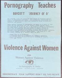 image of Pornography teaches violence against women / Boycott 'Journey of O' [handbill]